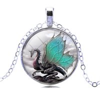 air dragon - 2016 Dragon Air Picture Pendant Necklace Fashion silver plated Statement Chain Necklace Summer Style Fine Jewerly for Women