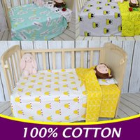 Wholesale 3PCS Set Cotton Baby Bedding Set Baby Crib Bedding Set Cot Duvet Cover Bed Sheet Pillow Case Without Filler CP24