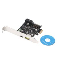Wholesale New PCI E x Express to USB Type C Dual Port Expansion Card Adapter for PC Computer Driver CD