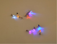 Wholesale Best Gift LED Stud Flash Earrings Hairpins square crytal LED Earring Lights Strobe LED Luminous Earring Party Magnets Fashion Earring Lights