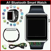 Cheap A1 Bluetooth Smart Watch with SIM Card Slot Health Watchs For Android IOS Smartphone Bracelet Smartwatch VS GT08 U8 DZ09 GV08 GT88 LX16 GT88