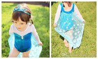 Wholesale Baby Swimwear Girls Summer Ice and Snow Conjoined Sun Bathing Suit New Kids long Sleeve and Sheer Swimwear