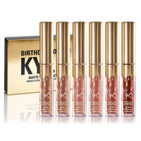 Wholesale Kylie Jenner Limited Birthday Edition Kylie Matte liquid Lipstick mini gold kylie lip kit