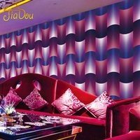 anti roll bars - 3D Stereoscopic Environmentally PVC Eallpaper KTV Bar Entertainment Waterproof Living Room TV Background Abstract Wallpaper Roll