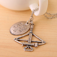 american fine jewelry - The Walking Dead Necklace movie jewelry Daryl Bowman Bow Arrow pendants Necklace choker necklace vintage sillver zombie Fine Jewelry