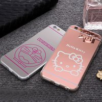Wholesale NEW HELLO KITTY DORAEMON SILICONE TPU BACK PHONE CASE COVER FOR APPLE IPHONE S PLUS