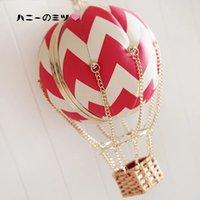 air satin bags - New design personalized cute sweet girl K brand spherical striped hot air balloon globe bag ladies handbag gift party purse