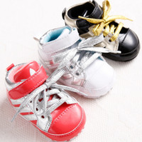 baby shoes stock - PU cheap baby shoes children spring autumn lace soft soled shoes months boys and girls toddler shoes in stock pair B
