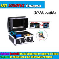 Wholesale Original M Professional Fishing Camera Underwater Fish Finder quot Color Monitor TVL HD CAM White Infrared LED