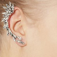 Wholesale Fashion Aestheticism Fully jewelled Jewel Nail Ear Clip Earring owl cuff elf Alloy
