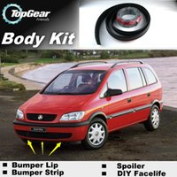 Wholesale Bumper Lip Lips For Holden Zafira Front Skirt Deflector Spoiler For Car Tuning The Stig Recommend Body Kit Strip
