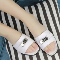 b h free shipping - Classic H brand women formal office lady mother footwear slipper soft comfortable leather shoes FA090