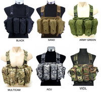Wholesale Tactical Hunting Chest Rig Large Capacity Mag Carrier Pocket Combat Airsoft Paintball Vest ht130
