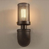 antique outdoor light - Retro American Country Iron Art Wall Light RH Loft Antique Color Wall Sconce E27 Edison Lighting Outdoor Indoor Industrial Lamp