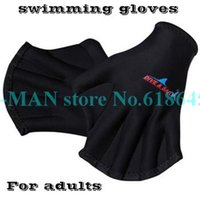 Wholesale Sports Swimming Paddle Gloves Hand Webbed Swim Training Diving Equipment Surfing Water Swimming Gloves S266