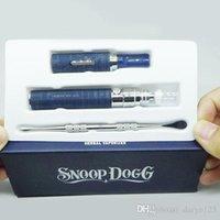 gift box metal - 2016 snoop dogg dry herb vaporizer pen e cigarette blue herbal pen gift box e cigarette starter kit dhl