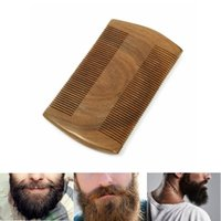 Wholesale Beard Mustache Wood Anti static Maintain Grooming Trimming Comb Brush