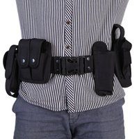Wholesale Outdoor Sports Camping Men s Tactical Hunting Belt Waistband with Pouches System Holster Training Security Guard Equipment