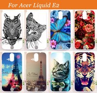 acer duo - For Acer Liquid E2 Duo V370 Case Cover high quality patterns painting colored tiger owl rose hard pc case for acer liquid e2