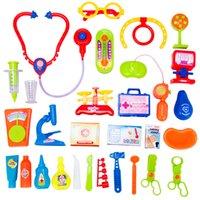 Wholesale Hot sale Mini Kids Doctor Nurse Medical Role Plays Set Case Baby Kit Plastic Popular Decor Puzzle Science Educational Toy