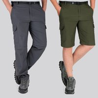 Wholesale ArmyGreen Outdoor Tactical Shorts Casual Men s Knee length Cargo Shorts Summer Hiking Camping Shorts Plus Size Quick Dry