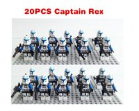 Wholesale Star Wars White Clone Trooper Captain Rex Clone Commander Red w Blaster amp JEK minifigure toys compatible with