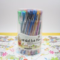 Wholesale Hot sale gel pen set with gift box Color included glitter neon standard milky metallic for Coloring Drawing
