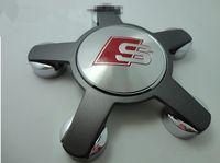 Wholesale Wheel Center Caps Badge For A u d i A4 A6 Q5 Q7 A3 A1 Wheel Centre Hub Cap S line Emblem set