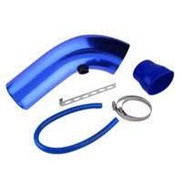 Wholesale Pieces Set Aluminum Universal Vehicle SUV Truck Car Air Intake Tube Pipe Air Intake Duct Hose Colors mm
