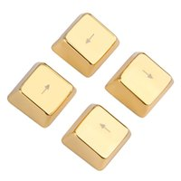 Wholesale Cool Metal Zinc Up Down Left Right Key Caps Mechanical Keycap Keyset Gold