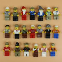 Wholesale 20Pcs Minifigures With Different Model Figures Building Blocks Educational Toy For Kids DIY Bricks Toys