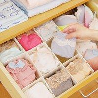 Wholesale DIY width different set Plastic Grid Drawer Storage Divider Subarea Organizer Home underwear socks spices