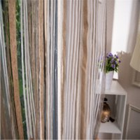 Wholesale 2016 new curtains wide vertical yarn hotel project order window Leaf Sheer Curtains