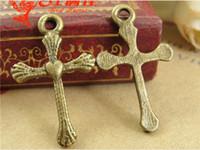 antique bronze crucifix - A3134 MM Retro Love Cross charms crucifix religious items mobile accessories antique bronze zinc alloy metal pendant