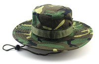 Wholesale 2016 Hot outdoor mountaineering fisherman fishing hat jungle camouflage Ben Nepalese cap hat rounded edges