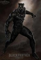 american panther - Hot Captain American Black Panther Costume Cosplay Marvel s The Avengers Theme Costume set bodysuit Halloween costumes Helmet Shoes