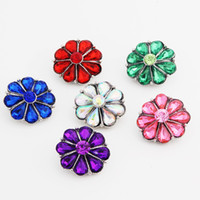 Wholesale Pack Of Color mm Noosa Snap Buttons Pretty Crystal Metal Snap Button Charm Rhinestone Styles Rivca Snaps Jewelry NOOSA Chunk E614E