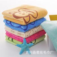 antibacterial fabric - Superfine Fiber Polyester Silk Children Cartoon Printing Than Pure Cotton Gauze Bibulous Antibacterial Towel Fabric Not Rub Off