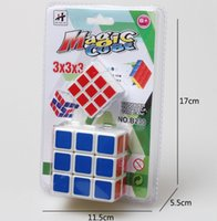Wholesale Fashion Magic Cube Professional x3x3 Rainbow Cubo Magico Puzzle Speed Classic Toys Learning Education For children