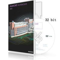 Wholesale Autodesk AutoCAD Arch softwar English Language bit and bit version Plastic color box package brand new full version