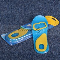 Wholesale Fedex DHL Free Custom Design Print Logo Foot Care NEW Scholl Active Everyday Gel Insoles For Men Gel Pad For Shoes Heel Knees Ankles Z465
