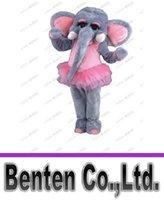 Mascot Costumes adult elephant costumes - Elephant Mascot Costume Christma fur Cartoon Mascot Costume Cartoon Character Costume for Adult LLFA9013