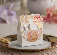 Wholesale Wedding Favours Gift Boxes Flower Wedding Favour Boxes Samll Favour Boxes Laser Cut Gift Package Wedding Candy Boxes Chocolate Boxes