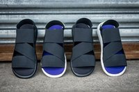 Wholesale 2016 Summer shoes Y3 QASA SANDAL factory price top quality Y slippers mens comfortable sandal size