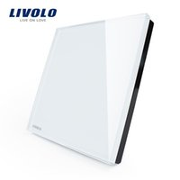 Wholesale Livolo force fertile switch socket toughened glass panel switch panel blank panel