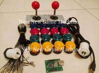 arcade cabinet kit - Hot Sale Arcade Diy Bundles Kits Set Push Buttons Zippyy Joystick With Two Players USB Encoder Board Amusement Cabinet Games Machines Parts