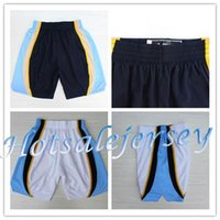 Wholesale 2015 New Arrival Memphis Basketball Shorts Zach Randolph Shorts New Material Sports Short Blue White