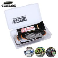 bicycle chain case - Portable Bicycle Tire Repair Tools Kits Bike Chain Tool Cycling Kit Bike Tire Rubber Patch Tools Set With Case Box