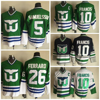 Wholesale 2016 Hartford Whalers Ron Francis Jerseys Stitched Ulf Samuelsson Hockey Jerseys Men Ray Ferraro Shirt