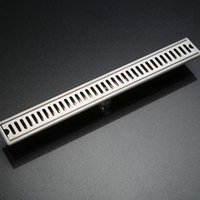 Wholesale 304 Stainless Steel Brushed Surface Linear Long Shower Bathroom Floor Drain MM Bathroom Channel Tile Drains